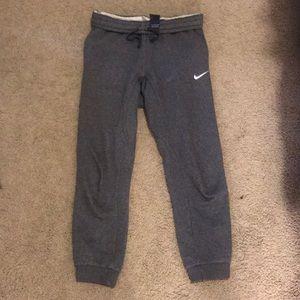Dark gray Nike joggers